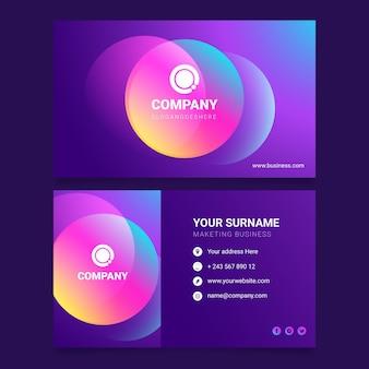 Bunte farbverlaufs-visitenkarte