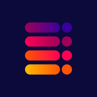 Bunte farbverlaufsillustration des farbpalettendesigns
