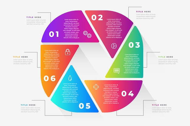 Bunte farbverlaufsinfografik
