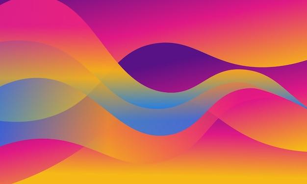Bunte farbverlaufsreflexion auf wellenhintergrund. bunte vorlage für ihr design.