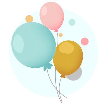 Bunte festliche ballonentwurfsvektoren