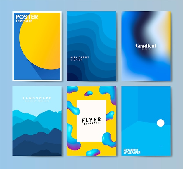 Bunte fliegerschablonen-designillustration