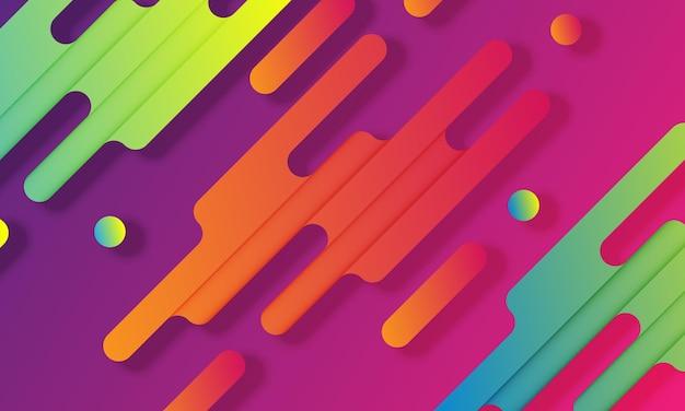 Bunte flüssige abstrakte form hintergrund. neue art ihres designs.