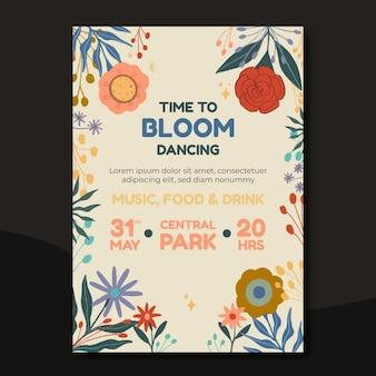 Bunte flyer-design-illustration für park-event