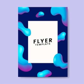 Bunte flyer vorlage grafik-design