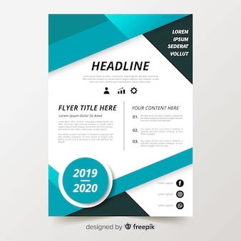 Bunte flyer vorlage mit flachen design