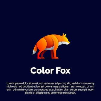 Bunte fox logo vorlage.
