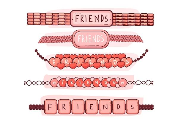 Bunte freundschaftsbandsammlung