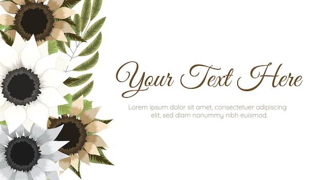 Bunte frühlingsblumenhintergrundschablone mit eleganten blumen.