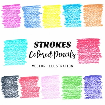 Bunte gekritzel stains vektor-design-elemente