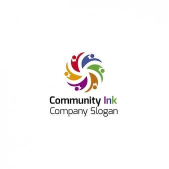 Bunte gemeinschaft logo-vorlage