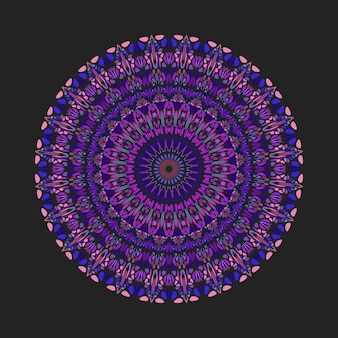 Bunte geometrische abstrakte blumenverzierungsmuster-mandalakunst