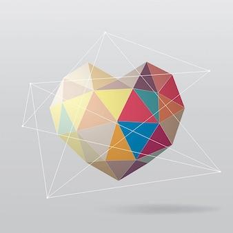 Bunte geometrische herz