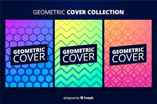 Bunte geometrische linien broschürensatz