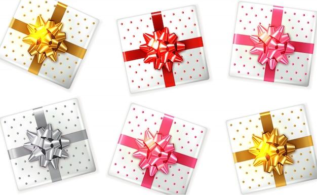 Bunte geschenkbox eingestellt