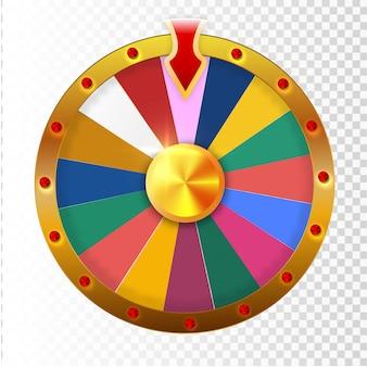 Bunte glücksrad- oder glücksinfografik. vektorillustration.