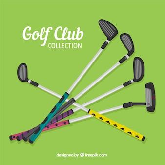 Bunte golfschlägersammlung
