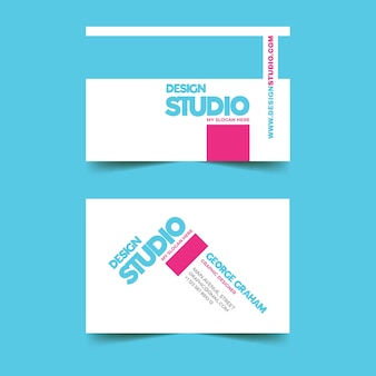 Bunte grafikdesigner-visitenkarteschablone