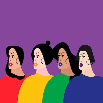 Bunte gruppe von personen-vektor-illustration
