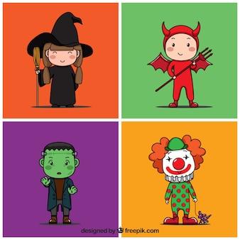 Bunte halloween-kostüme