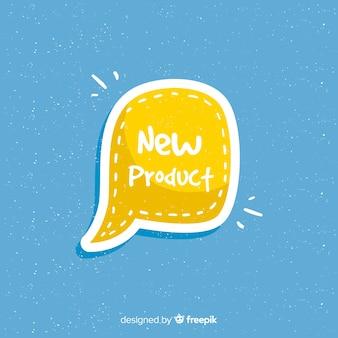 Bunte hand gezeichnete zusammensetzung des neuen produkts