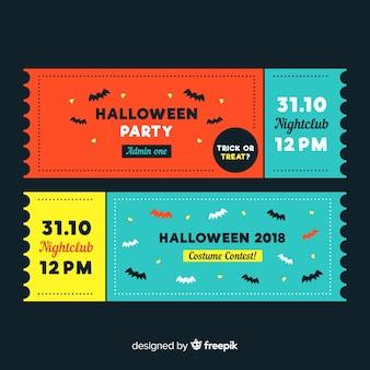 Bunte hand gezeichneter satz halloween-partykarten