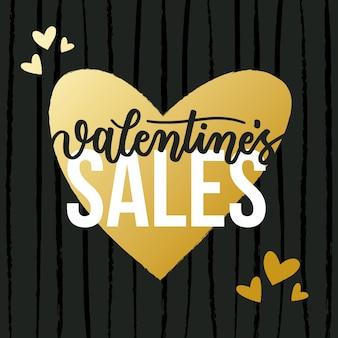 Bunte hand gezeichneter valentinstagverkauf