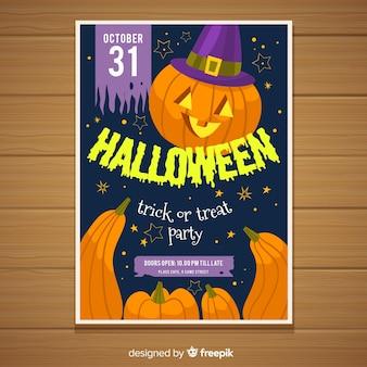 Bunte hand gezeichnetes halloween-partyplakat