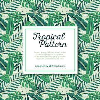 Bunte hand gezeichnetes tropisches muster