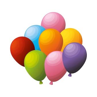 Bunte haufen luftballons party