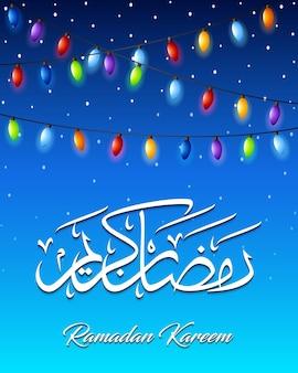 Bunte helle lampe für ramadan-festival