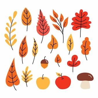 Bunte herbstblätter herbstliche gelbe blattwaldnatur orange blätter und rote blätter im september