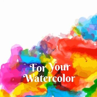 Bunte hintergrund mit wasserfarben