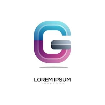 Bunte illustration des g-buchstaben-logos