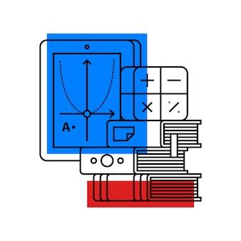 Bunte illustration über algebra