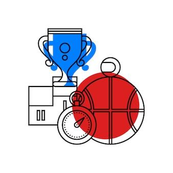 Bunte illustration über sport und sportunterricht