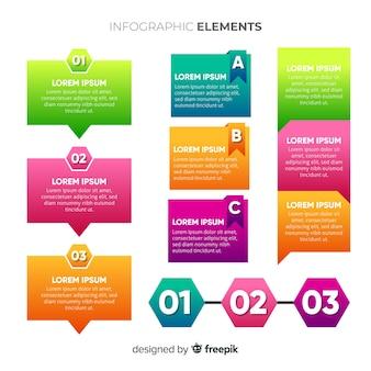 Bunte infografik elementsammlung