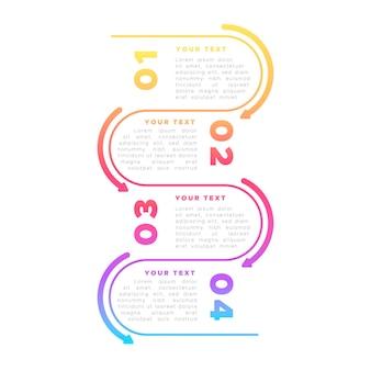 Bunte infografik im flachen design
