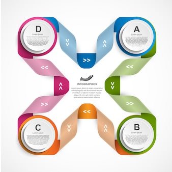 Bunte infografik-vorlage