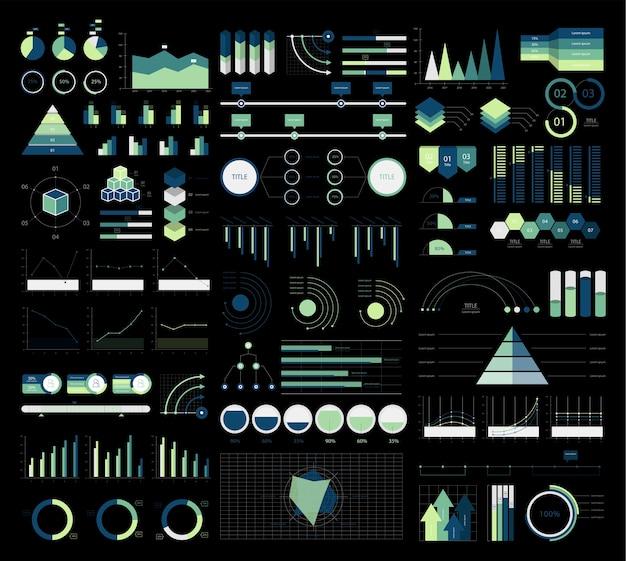 Bunte infographic diagramme und diagrammillustration