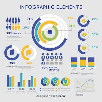 Bunte infographic schablone des flachen designs
