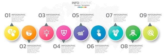 Bunte infographik element vorlage