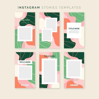 Bunte instagram geschichtenvorlage