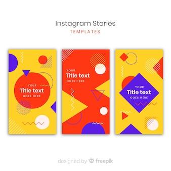 Bunte instagram geschichtenvorlagen
