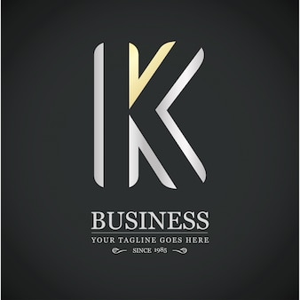 Bunte k brief logo alphabet logo-design