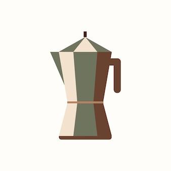 Bunte kaffeekanne