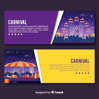Bunte karneval-banner
