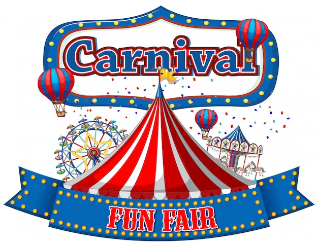 Bunte karneval funfair banner