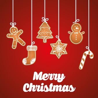 Bunte kartengraphik der frohen weihnachten