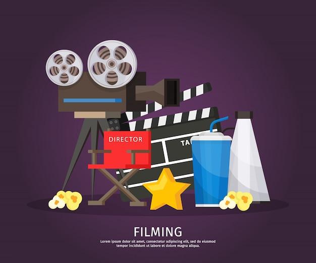Bunte kinematographie-schablone